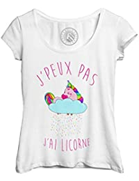 SIMYJOY Amants Dabbing Licorne T-Shirt Animal Mignon Dab Tee Cool Cartoon Casual Style Top pour Homme Femme Adolescent