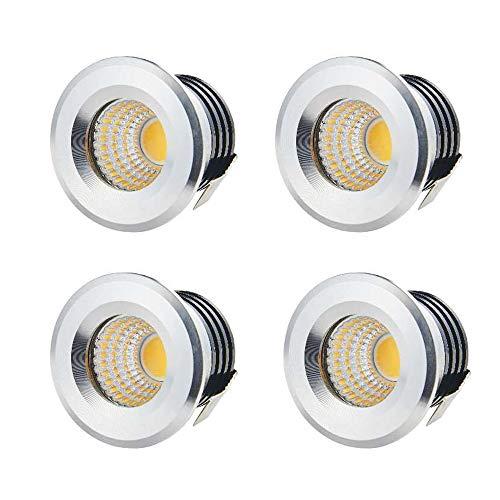 Yeehome - 4 mini focos empotrables de 3 W LED para el...