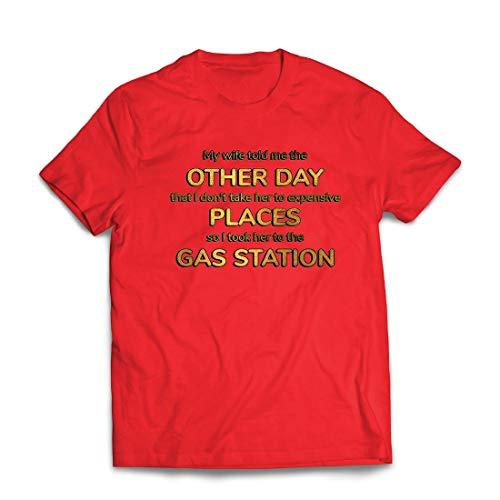 lepni.me Männer T-Shirt Meine Frau hat Mir gesagt, lustig verheiratetes Paar Angebot (XX-Large Rot Mehrfarben)