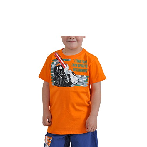 d Your Lack Of Faith Disturbing Motiv Darth Vader Kinder T-Shirt Timmy 350 orange - 140 (Han Und Leia Kinder)
