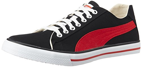 Puma Unisex HipHop5Ind. Black and High Risk Red Sneakers - 9 UK
