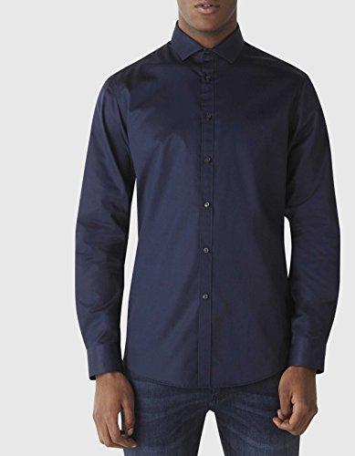 Celio Herren Freizeithemd Sharani Blau (Marineblau)