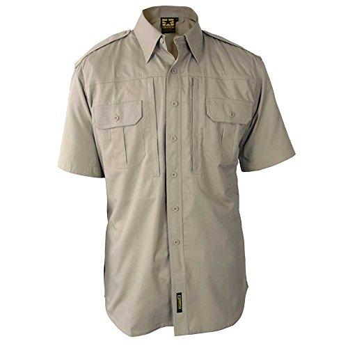 PROPPER F5311 Men's Tactical Shirt - Short Sleeve Khaki M Regular (Propper Tactical Shirt)