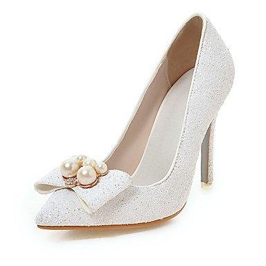 Talloni delle donne Primavera Estate Autunno Inverno Club scarpe personalizzate Materiali da festa di nozze e abito da sera Zeppa tacco a spillo White