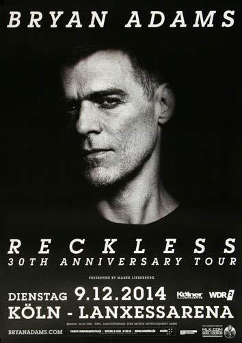 Premium Poster/Plakat | DIN A1 | Live Konzert Veranstaltung » Bryan Adams - Anniversary, Köln 2014 « - Adams Köln
