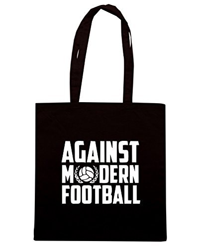 T-Shirtshock - Borsa Shopping TUM0209 AGAINST MODERN FOOTBALL Nero