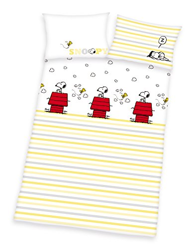 Herding Peanuts SNOOPY Baby BIO Bettwäsche, 40x60 100x135cm, 100{5b79713d04df7065ed2a99f3e0dd543e2e00177066e3284d1f849174a65a992c} kbA Bio Baumwolle