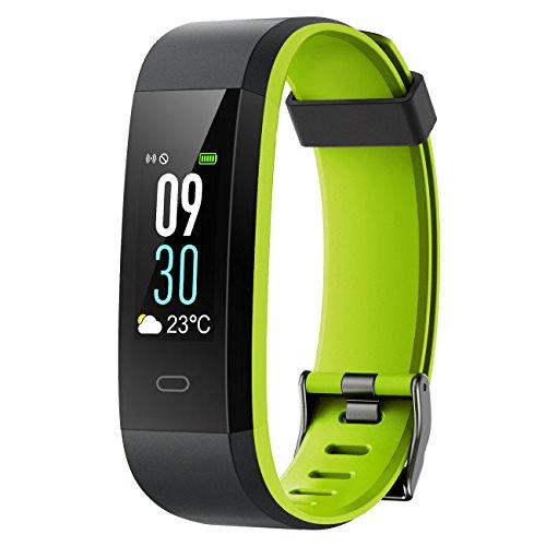 Muzili Fitness Armband YG3C Aktivitätstracker Herzfrequenzmonitor Farbdisplay IP68 Wasserdicht Fitness Tracker mit Schrittzähler Schlafmonitor Kalorienzähler für Kinder Damen Herrn(Black Green) thumbnail