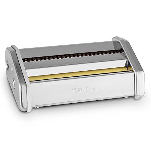 Klarstein Siena Zubehörteil Zubehör-Aufsatz Siena Pasta Nudel Maker Nudelmaschine (Edelstahl, für 2 Nudeldicken: 3mm und 45mm Nudel-u. Pasta-Aufsatz) Silber