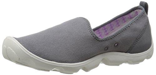 Crocs Mais Movimentadas Dia-canvas-shoe Carvão / Branco Pérola