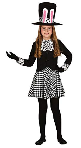 shoperama Verrückter Hutmacher Kinder-Kostüm für Mädchen Alice im Wunderland Crazy Mad Hatter März-Hase Weißes Kaninchen, Kindergröße:7-9 Jahre (Alice Im Wunderland Kaninchen Kostüm Kind)