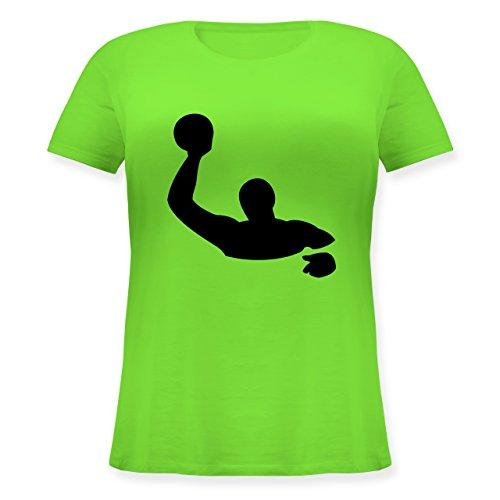 Wassersport - Wasserball - L (48) - Hellgrün - JHK601 - Lockeres Damen-Shirt in großen Größen mit Rundhalsausschnitt