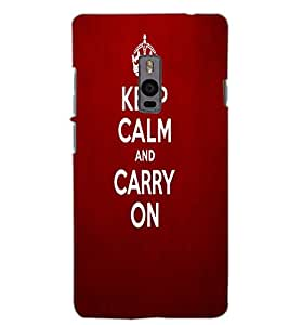 ONE PLUS TWO KEEP CALM Back Cover by PRINTSWAG