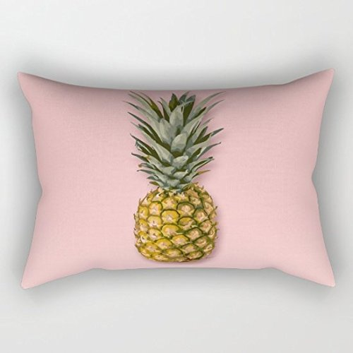 41j3uoQ2WzL BEST BUY #1Pink Pineapple Lumbar Pillowcase Throw Pillow Cover 12x20 Inches price Reviews