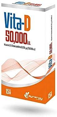 Vita-D 50,000 i.u, 15 tablets - Synergy