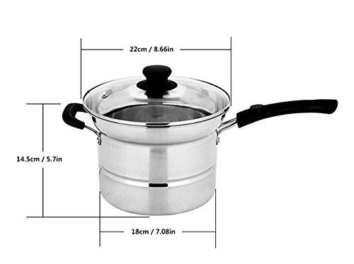 Nudeltöpfe Induktionsherd Edelstahl Frittierpfanne Eintopf Topf Transparente Glasabdeckung Für Hausküche JMQ