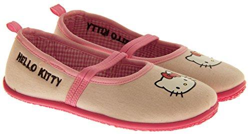 Hello Kitty Fragokit Sangle Elastiquée Pantoufles Chaussures de Ballet Filles Rose