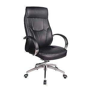 WU Computer Stuhl Home Executive Stuhl Kissen Büro Mitarbeiter Chef Stuhl Hohe Rückenlehne Stuhl Liegenden,Schwarz,1