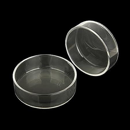 SENZEAL 2pcs Glass Shrimp Feeding Dish Bowls for Aquarium Reptiles Home Kitchen Water Food Dish Feeder Bowl Round