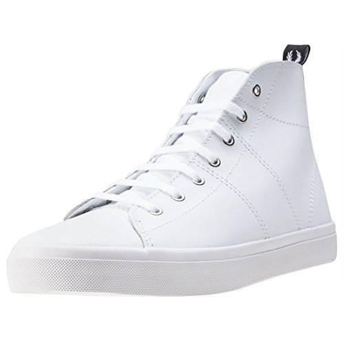 Fred Perry Ellesmere Mid Donna Stivali White White - 5 UK