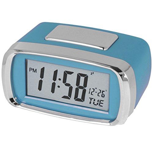 Digitaler Reise-Funk-Wecker LED-Beleuchtung Nachtlichtfunktion Alarm Clock praktischer Multifunktionswecker (Blau)