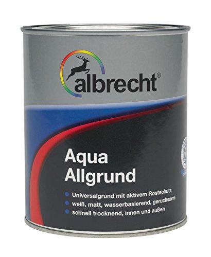 Albrecht Aqua-Allgrund 3400455220000000375 - Vernice a base acqua, 375 ml, bianco opaco