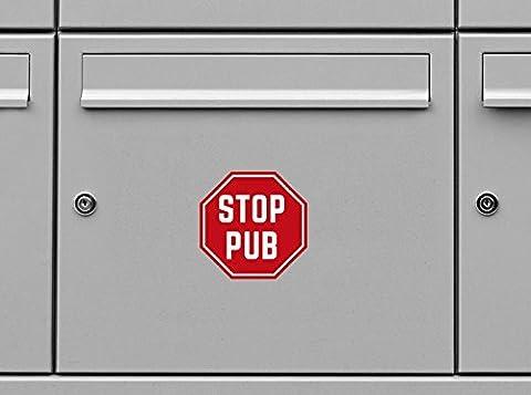 Panneaux Stop - Stickers Boites Aux Lettres Stop