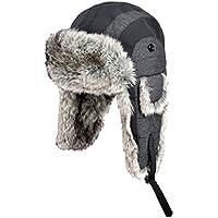 Zxcvb Gorra de algodón de esquí Invierno de los Hombres Engrosamiento cálido Lei Feng Sombrero Sombrero de Invierno frío Exterior Plus Terciopelo a Prueba de Viento Orejera Sombrero de Invierno