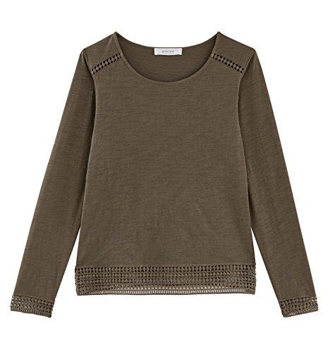 Promod T-shirt détail crochet Femme Kaki