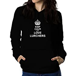 Keep calm and love Lurcher Women Hoodie