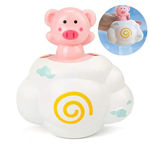 Hilai Soft-Bewässerungs-Badespielzeug Regen-Wolke für Kleinkinder Kinder Spielzeug-Geschenk-Set BPA frei Baby-Haar-Wash Tool (Piggy)