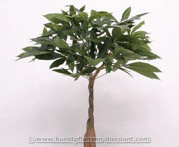 Kunstbaum Pachira 90cm, mit 201 Textilfaser Blätter – Kunstpflanze künstliche Blumen Kunstblumen Blumensträuße künstlich, Seidenblumen oder Blumen aus Plastik Kunststoff
