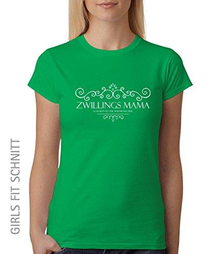 -- Zwillingsmama -- Girls T-Shirt auch im Unisex Schnitt Kelly Green