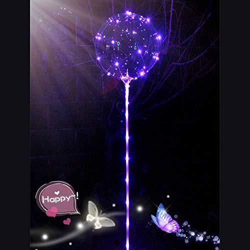 Bumen 1 PCS LED leuchten Party Glow in The Dark Luftballons Party Dekrationen für Weihnachten, Feier, Geburtstag, Hochzeit usw Glitter Ballons Modellierballons Luft-Ballon Premium Latex