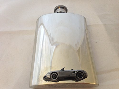 6oz-pewter-hip-flask-plain-with-porsche-boxster-emblem-ref192