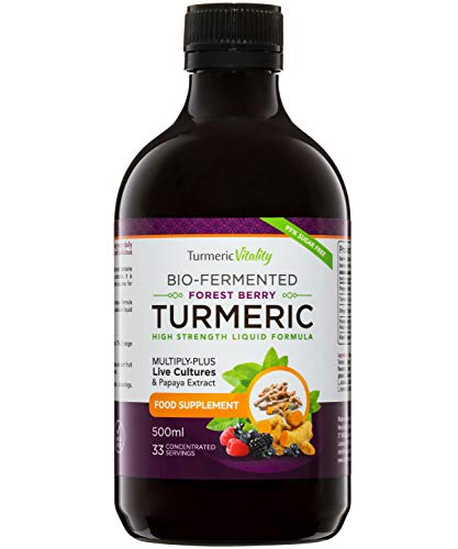 Curcuma Bio-Fermenté avec Gingembre et Poivre Noir à Boire | 6 milliards de probiotiques et enzymes | Turmeric Vitality