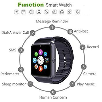 YAMAY® Bluetooth Smartwatch - 3