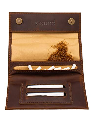 Blague à Tabac skaard | Cuir véritable | Fermeture magnétique | en Brun et Noir