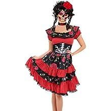 Tag der Toten Mädchen Kostüm Senorita Halloween Kinder Kinder Kostüm