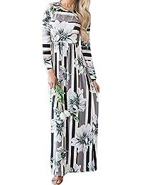 Amphia Falda Estampada, Vestidos De Fiesta Mujer-Vestido Largo-Vestido éTnico-Vestido