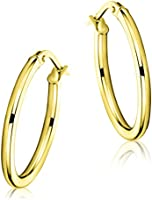 Miore - Orecchini a cerchio da donna in oro giallo 9 carati