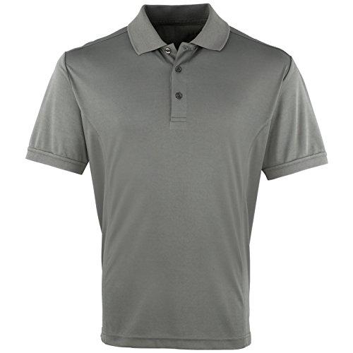 Premier Herren Coolchecker Pique Kurzarm Polo T-Shirt Hellblau