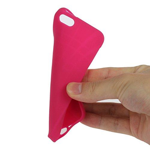Felfy Tasche Apple iPhone SE/5S/5 Hülle,Apple iPhone SE/5S/5 Case Ultra Dünne Slim Soft Gel TPU Silikon Handyhülle Schutzhülle Durchsichtig TPU Case Backcover Anti-Shock Anti-Sturz Case Niedlich Bonbo Rote
