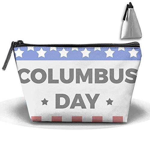 Columbus Day Travel Toiletry Bag/Shaving Grooming Kit/Makeup Bag Organizer