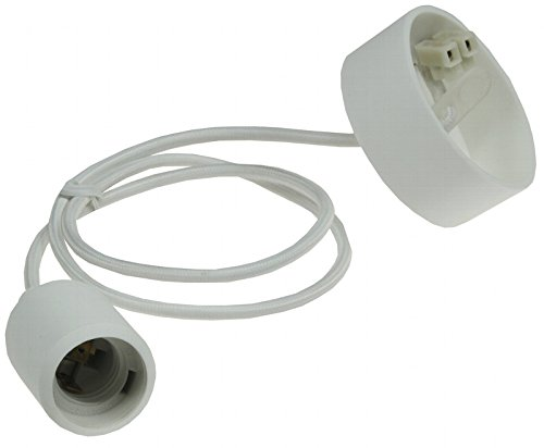 Preisvergleich Produktbild Lissek E27 Silikon Lampenaufhängung Rubber Fassung Glühbirne Lampenkabel Pendelleuchte Lampenfassung DIY Lampenhalter Lampensockel (weiß)
