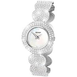 Seksy Ladies Swarovski Element Crystals Circular Linked Watch