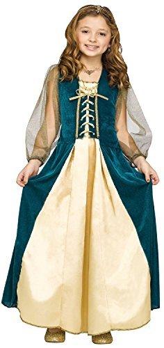 Renaissance Maiden Kind Kostüm - Fancy Me Mädchen grün Renaissance mittelalterlich