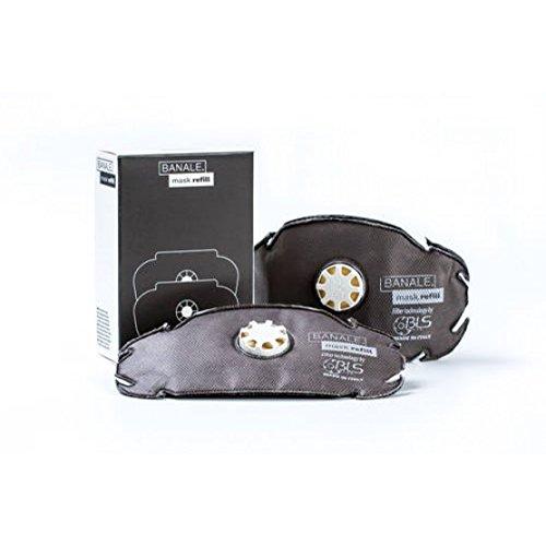 Banale - Filtro di ricarica anti-smog a carboni attivi per MASK, Protezione Da Inquinamento, pollini e batteri, confezione da 2 filtri