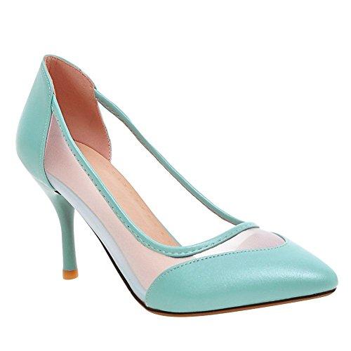 MissSaSa Donna Sottile col Tacco Alto Piede Pumps Elegante Azzurro
