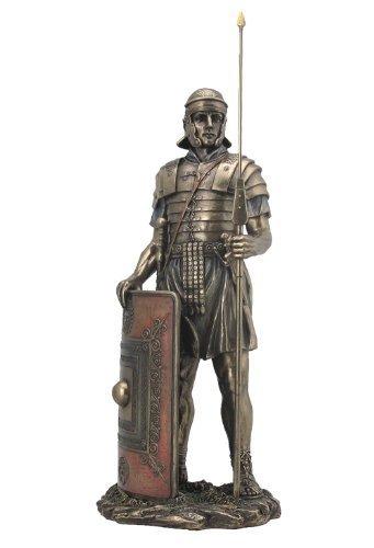 Verkauf–Römischer Soldat mit Javelin und Schild Skulptur
